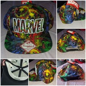 Marvel snapback hat with characters unisex